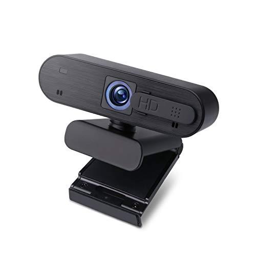 エレコム WEBカメラ 会議用カメラ マイク内蔵 200万画素 高解像度Full HD1920×1080ピクセル対応 オートフォーカス カメラシャッター付 ブラック WEBCAM-101BK