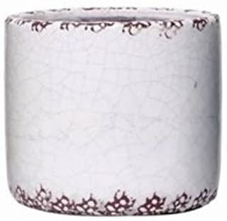 Hosley Small 5.5 Inch White Ceramic Planter Ideal Weddings Party House Warming Office Den Candle Garden W1