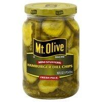 Mt. Olive Mini Stuffers Hamburger Dill Chips Pickles 16 oz (4 jars)