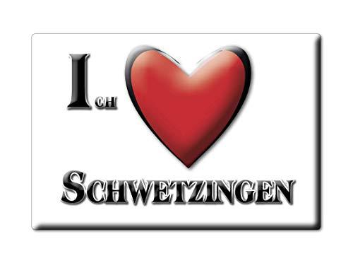 Enjoymagnets SCHWETZINGEN (BW) Souvenir Deutschland Baden WÜRTTEMBERG Fridge Magnet KÜHLSCHRANK Magnet ICH Liebe I Love