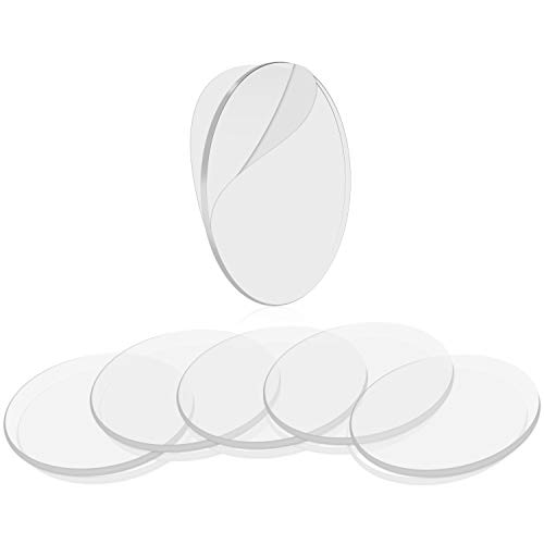 BRAVESHINE Double Sided Adhesive Tape - 32PCS Removable Wall Mounting Sticky Gel Pad - Washable Traceless Transparent Tape for DIY Craft, Home Office Carpet Rug Couch Cushion Gripping - Round 1.1Inch