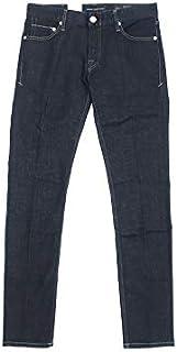 [ケアレーベル] ジーンズ Glam248 ストレッチ デニム パンツ イタリア製 ウォッシュ加工 ボタンフライ インディゴ 32 91002a07