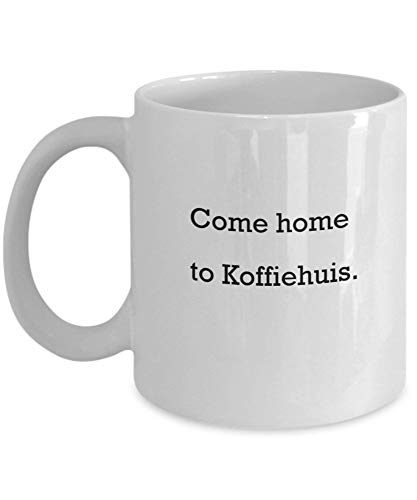 Tazas de café vienen a casa a Koffiehuis Regalos para el día de la madre Tazas divertidas y novedosas de regalo de 11 onzas