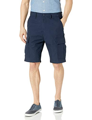 Levi's Men's Regular Carrier Cargo Short, Navy Blazer Ripstop, 36