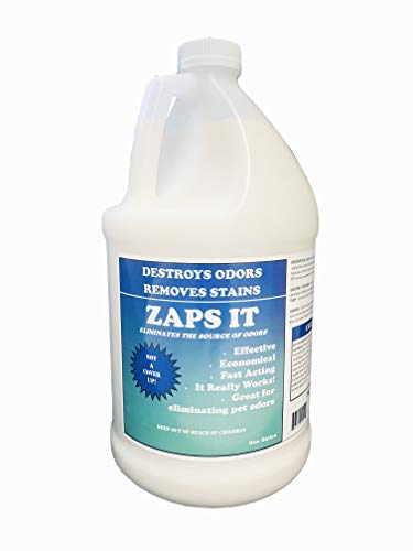 Zaps It Concentrate Natural Pet Odor Eliminator & Stain Remover (1 Gallon makes up to 32 gallons of solution!) Keep Pet urine/stains off carpets, rugs - Use in outdoor potty areas (1 Gallon, 128 oz)