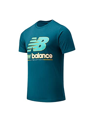 New Balance- Camiseta DE Manga Corta NB Athletics Higher Learning Logo tee- Camiseta para Hombre (L)
