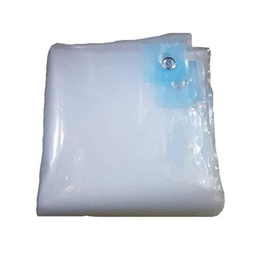 ZHUAN Lona Transparente de Vidrio, Resistente, respetuosa con el Medio Ambiente, Aislamiento a Prueba de Polvo, Orificio de Anillo de Metal, Cubierta de Patio Exterior, 23 tamaños, Personalizable