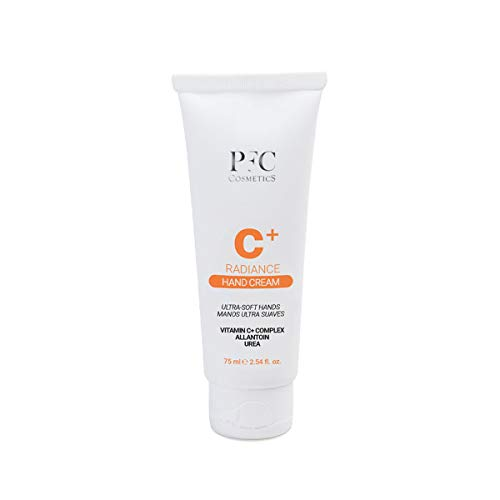 PFC Cosmetics - Crema de Manos Reparadora con Vitamina C Radiance C+ 75ml Concentrado de Vitaminas C+ Complex 2% con Protección Solar para Hidratación Manos y Piel.
