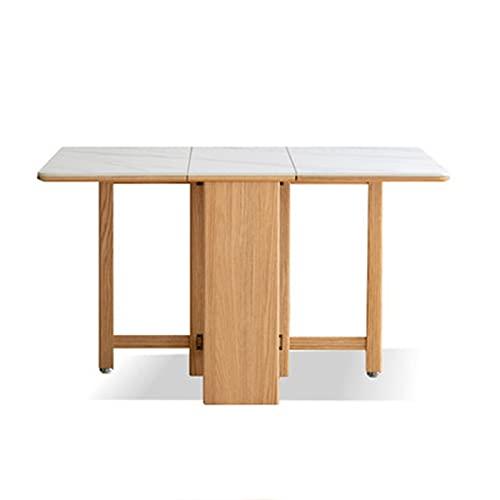 ZDAMN Mesa de Comedor Mesa de Comedor de Tablero de Madera Maciza Mesa de Comedor nórdica Mesa Minimalista Moderna Mesa Plegable Simple para Comedor (Color : Natural, Size : 130x80x75cm)