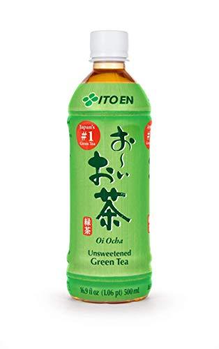 ITO EN grüner Tee, ungesüßt, aus ganzen ausgelesenen Teeblättern, fertig gekochter Tee in praktischer Flasche, vegan und glutenfrei (1 x 500 ml)