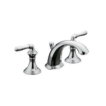 "KOHLER Devonshire 8"" Widespread 2-Handle Low-Arc Bathroom Faucet Polished Chrome, Spout height: 3.375"""