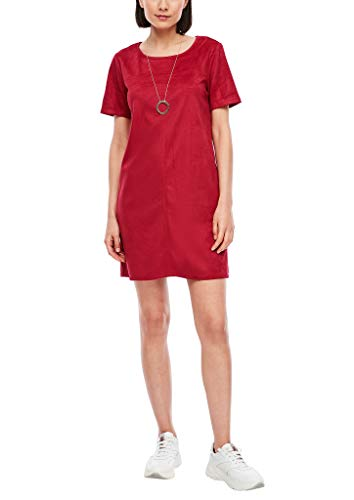 s.Oliver Damen Kurzes Kleid in Veloursleder-Optik 3842 42
