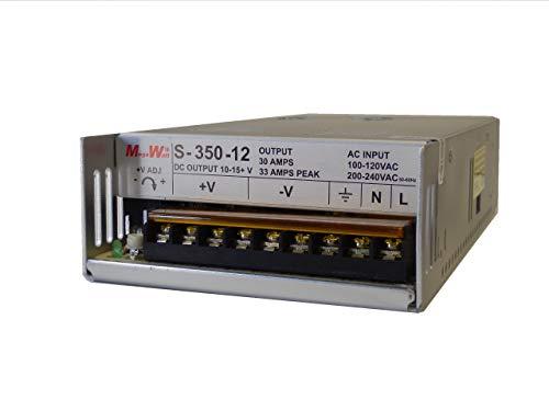 MegaWatt S-350-12 30 Amp 9.5-15 Volts Adjustable Ham CB Radio Power Supply 13.8V 12V 33A Peak Not a Clone Real MegaWatt MW