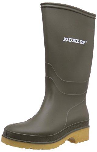 Dunlop Protective Footwear Unisex-Kinder Dunlop Dull Gummistiefel, Grün, 32 EU