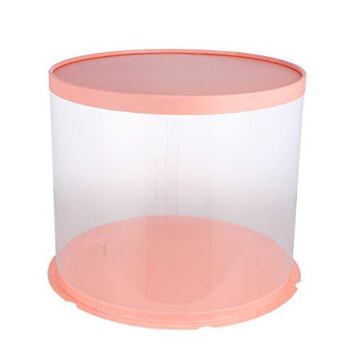 UPKOCH Einweg-Kuchenträger Kuchenbehälter aus Durchsichtigem Kunststoff Tortenschachtel mit Domdeckeln Und Tortenbrettern für 10-Zoll-Kuchen Rosa Doppelschicht