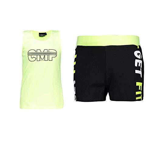 CMP trainingspak vrijetijdspak zomerset geel neon stretch belettering