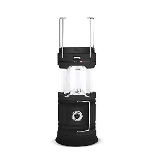 Big Bargain Store Lanterne LED Haute luminosité adapté pour: randonnée, Camping, Urgence, ouragan, Panne de Courant-Super-lumière vive lumière de Camping Pliable Black