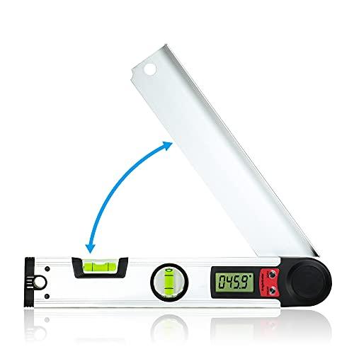 Winkelmesser Digitale, Orthland Winkelmesser Elektronisch 0-230 ° Digitale Wasserwaage mit LCD-Anzeige, Winkelmessgerät 300mm für Holzbearbeitung und Heimarbeit