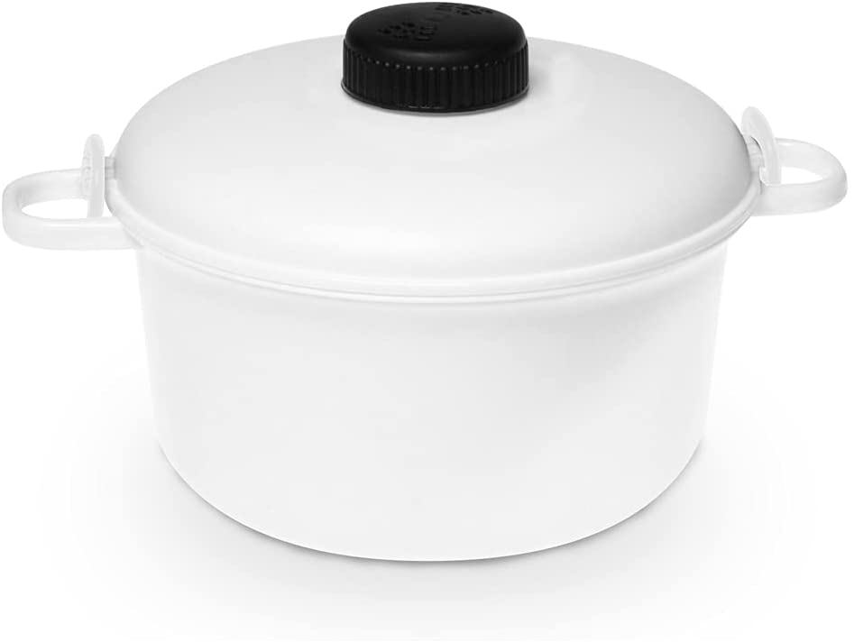 Bene Casa - 2.6 Qt. Microwave Pressure Cooker - Non-stick Surface and Locking Lid - Cooks Up to 12 Cups of Cooked Rice (6 Cups Uncooked)