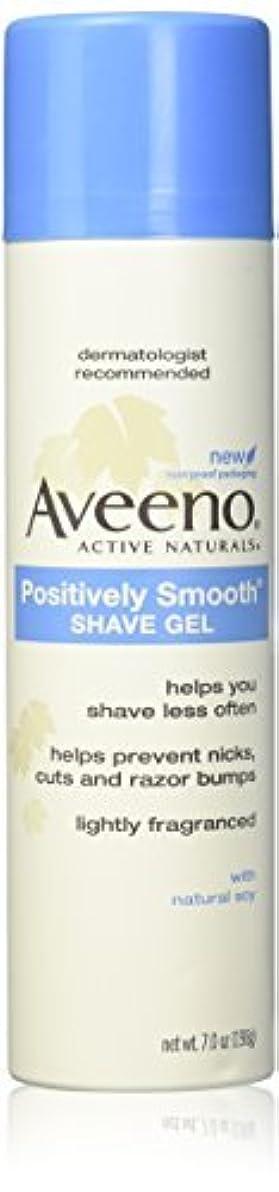 肝検査道徳教育Aveeno Positively Smooth Shave Gel - 7 oz - 2 pk [並行輸入品]
