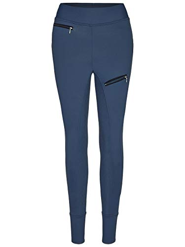 BUSSE Damen Vollbesatz Reit-Tights PERFECT-FIT, 40, navy