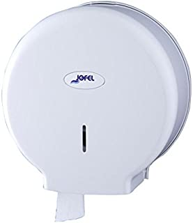 Jofel AE57000 - Dispensador de papel en rollo, rollos de 45 mm diámetro, color blanco