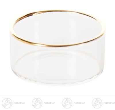 Ersatzteile & Bastelbedarf Teelichthalter Glas mit Goldrand Breite x Höhe x Tiefe 4,5 cmx2,1 cmx4,5 cm NEU Erzgebirge Kerzenhalter Teelichthalter