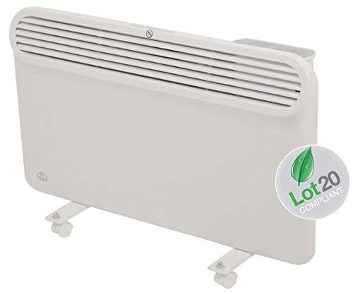 Prem-i-air - Pannello di Riscaldamento Moderno ed Elegante programmabile Sottile con Display LCD, Colore Bianco (1500W (1,5 KW)
