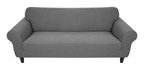 MR.COVER Sofabezug 2 Sitzer, Sofaüberzug Helllgrau, Hohelastischer Sofaüberwurf, Rutschfester Sofa Bezug, wasserdichte&Hautfreundliche Sofahusse(für 145~185cm lang 2-Sitzer Sofa)