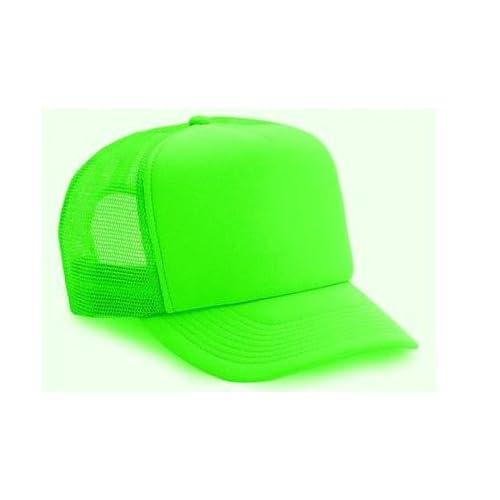 4ad90466f6d71 Blank Neon Mesh Trucker Hat Cap