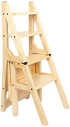 GDFEH Scala multifunzione in legno massello scala Creativa scala ascendente Step Scaletta Scaletta Creativa Scaletta 480x460x905mm Facile da conservare, scaffalature pieghevoli (Color : Wood Colour)