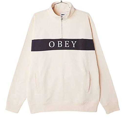 obey felpa Obey Felpa Thief Mock Neck Speciality Fleece Garzata Sago Multi (XL)
