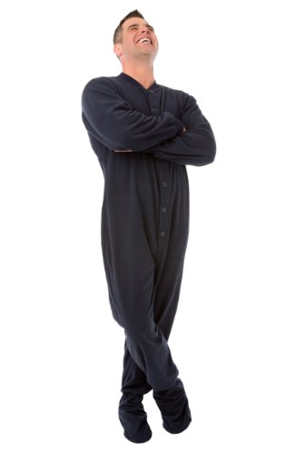 Big Feet Pyjama Co Pijamas de patas pijamas Micropolar adulto X-Pequeña Azul marino