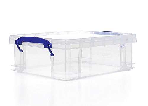 Mycket användbara rektangulära förvaringsboxar, 0,2 l, transparent