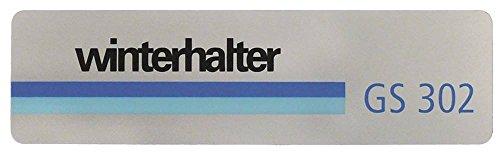 Winterhalter Schild für Spülmaschine GS302, GS315, GS215, GS310 Breite 35mm Länge 127mm Materialstärke 0,18mm