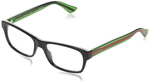Gucci Brillengestelle GG0006O-6-55 Rechteckig Brillengestelle 55, Schwarz