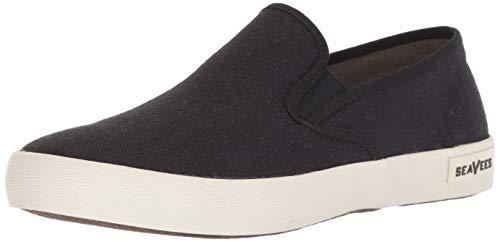 SeaVees Men's Baja Slip On Standard Casual Sneaker, Black, 11