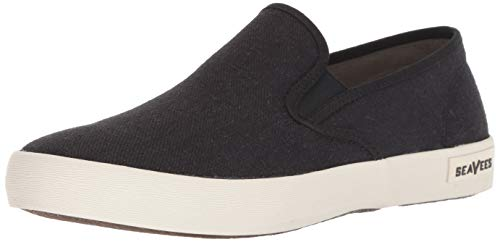 SeaVees Men's Baja Slip On Standard Casual Sneaker,  Black, 8.5