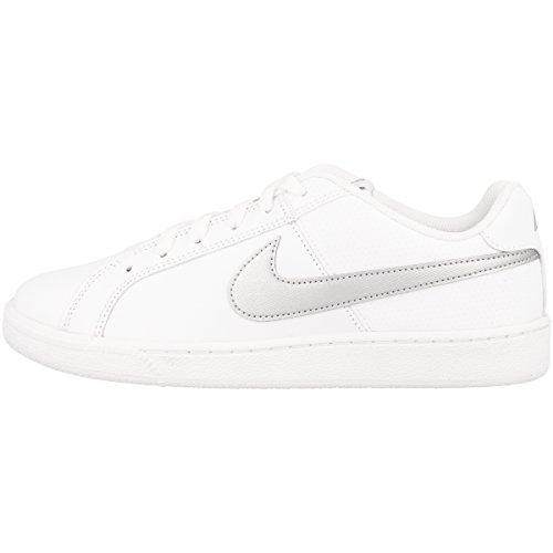 Nike Wmns Court Royale, Scarpe da Ginnastica Donna, Bianco (White/Metallic Silver 100), 40 EU