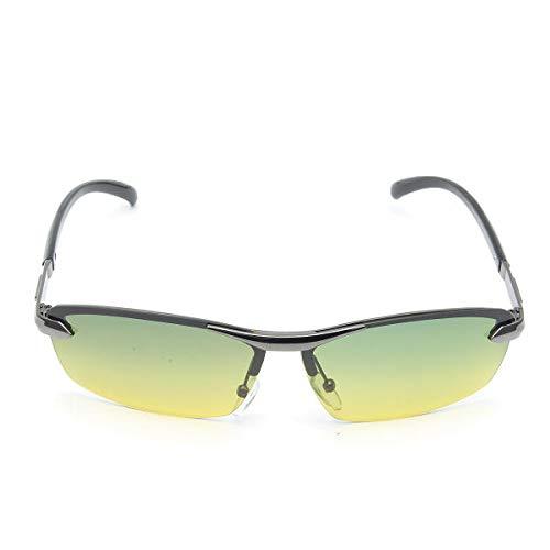 NBSHWF Cool Gafas de Sol polarizadas de los Hombres encantadores Día Noche Visión UV400 Eyewear Drive Pilot Sun Gafas Gafas Deportivas