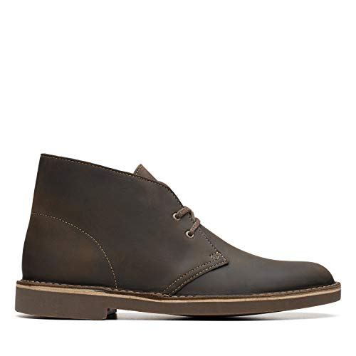 Bottines Clarks Chukka - pour homme, rouges, taille 40 - Marron - Beeswax Leather, 44