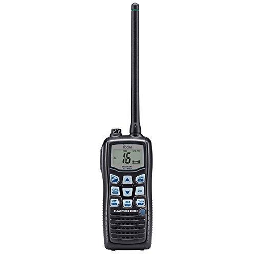 Icom IC-M35 Ricetrasmettitore VHF/FM con 6W di potenza RF, galleggiante, microfono a cancellazione di rumore, MIL STD 810, grado di protezione IPX8