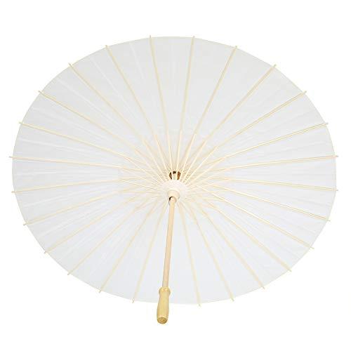 Paraguas de papel, amplia aplicación de papel para boda, apertura y cierre suave, paraguas de papel decorativo fuerte y resistente para jugar y rendimiento