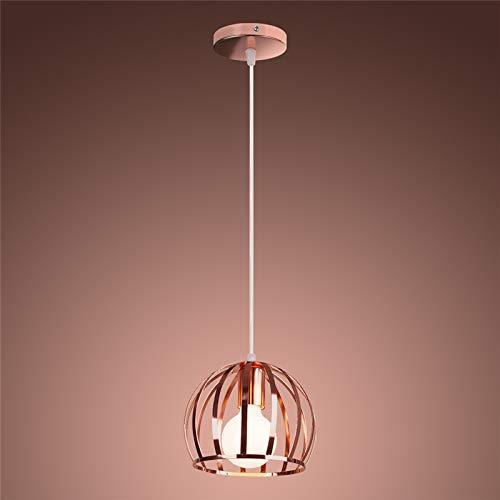 Wankd Industria – Lámpara de techo colgante de oro rosado y de...