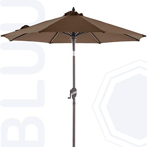 BLUU Sunbrella 9 FT Aluminum Patio Umbrella Outdoor Market...