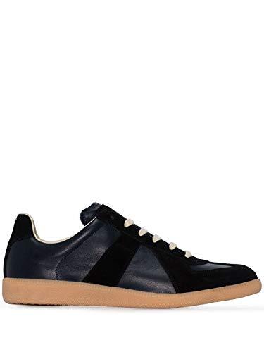 Maison Margiela Luxury Fashion Uomo S57WS0236P1895961 Blu Pelle Sneakers | Stagione Permanente