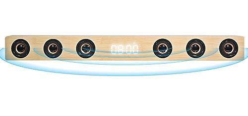 GANE Barra de Sonido estéreo HI-FI de Madera de 30 W, Altavoz de TV inalámbrico Bluetooth, Compatible con RCA AUX HDMI, para televisión de Cine en casa, B