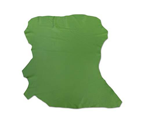 Zerimar Piel Cuero Napa | Retales de Piel para Manualidades | Piel para Artesanos | Color: verde | Medidas: 70x65 cm.