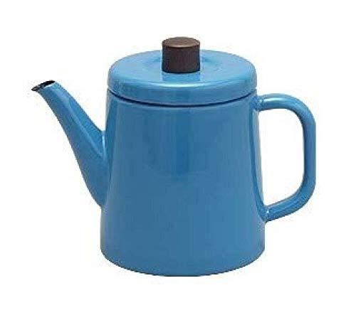 GUOCAO Juegos de té teteras esmaltado Hervidor teteras Ollas Ese Hecho Noda Esmalte Esmalte Blanco Mano Cafetera Tetera Azul 1.5L Multicolor Cerámico