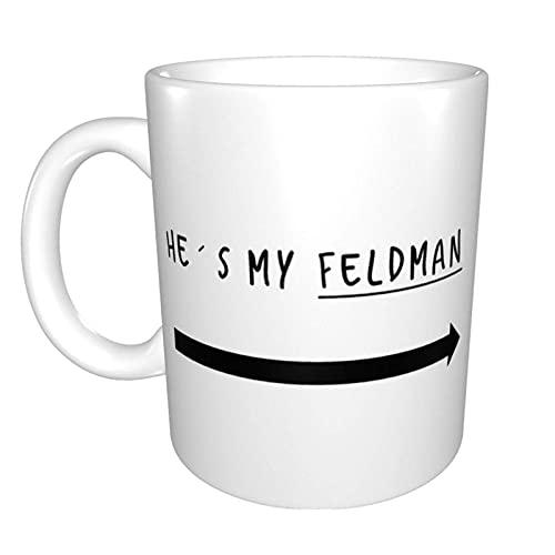 Hdadwy Corey Feldman y Corey Haim - Mirada de amistad en mi portafolio para el otro 2 Taza de té de cerámica para el hogar Taza de café de oficina 10 oz